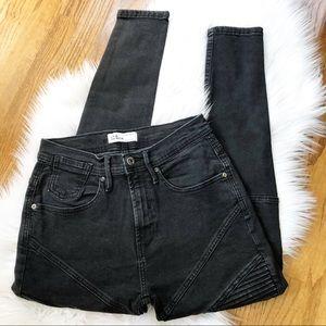 Zara Man Black Motto Skinny Jeans